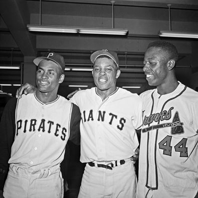 Willie Mays Hank Aaron Roberto Clemente - Copy
