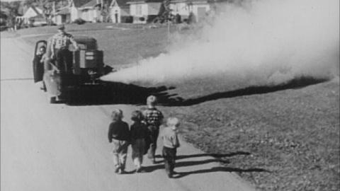 Spraying DDT